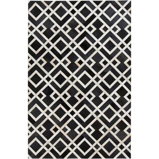 Handmade Greg Animal Pattern Leather Rug (8' x 10')
