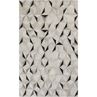 Handmade Evan Animal Pattern Leather Rug (5' x 8')
