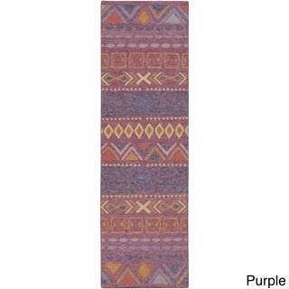 Hand-Woven Stephen Southwestern Wool Rug (2'6 x 8')