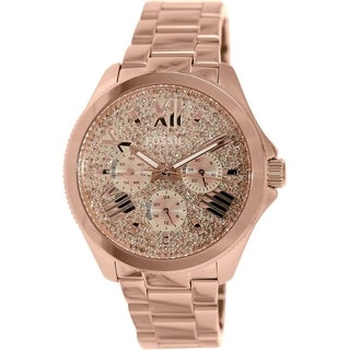 Fossil Women's AM4604 Rose-goldtone Stainless Steel Quartz Watch