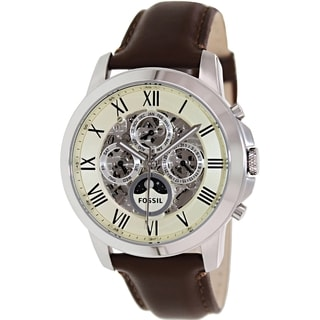 Fossil Men's Grant ME3027 Brown Leather Automatic Watch