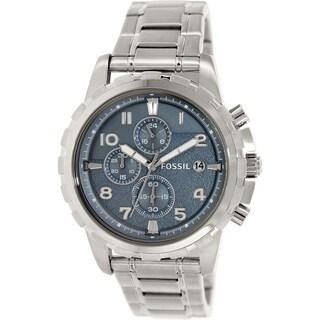 Fossil Men's Dean FS5023 Silvertone Quartz Watch
