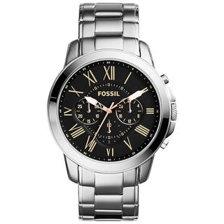 Fossil Men's Grant FS4994 Silver Stainless-Steel Quartz Watch