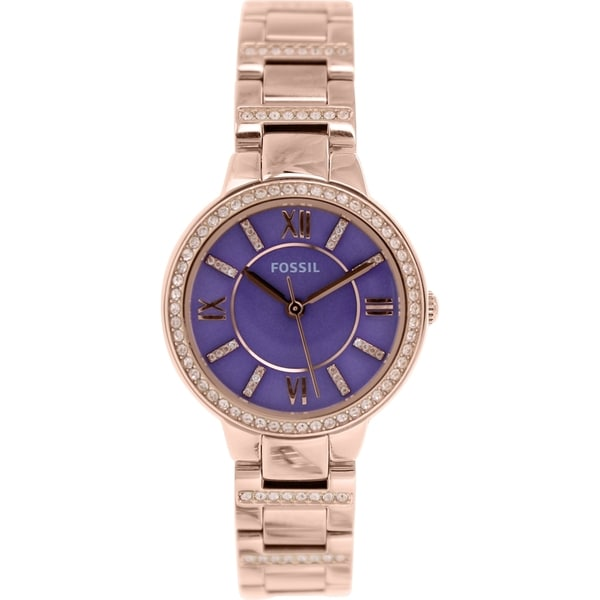 Fossil Women's Virginia ES3653 Rose Gold Stainless-Steel Quartz Watch