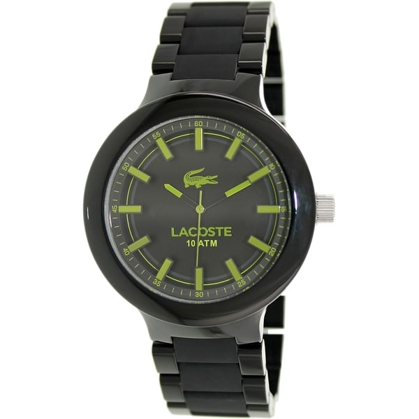 Lacoste Men's 2010768 Black Plastic Analog Quartz Watch