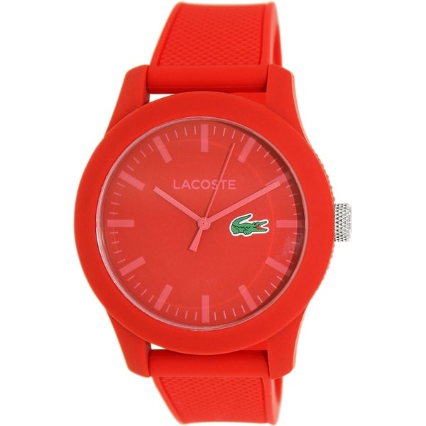 Lacoste Men's 2010764 Red Silicone Analog Quartz Watch