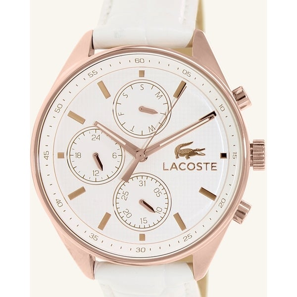 Lacoste Women's Philadelphia 2000874 White Leather Analog Quartz Watch