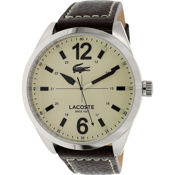 Lacoste Men's Montreal 2010696 Brown Leather Leather Quartz Watch