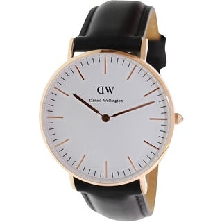 Daniel Wellington Women's Sheffield 0508DW White Leather Quartz Watch