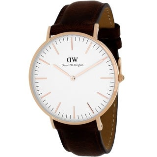 Daniel Wellington Men's Bristol 0109DW White Leather Quartz Watch