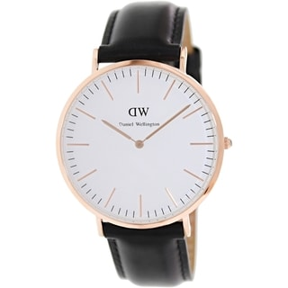 Daniel Wellington Men's Sheffield 0107DW White Leather Quartz Watch