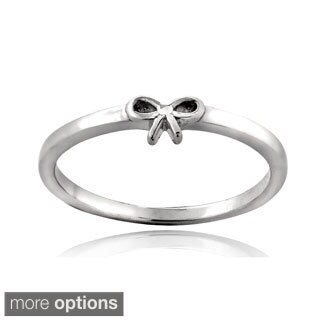 Mondevio Sterling Silver Bow Polished Promise Ring