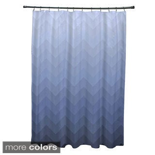 Faded Chevron Pattern Shower Curtain