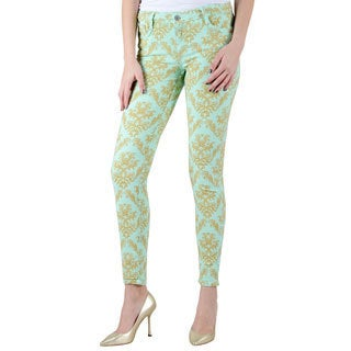 Women's Bleulab Mint Green Reversible Jeans