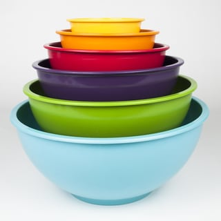 Colorful Nested Melamine Mixing Bowl 6-piece Set