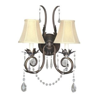 Berkeley Square Weathered Bronze 2-light Sconce