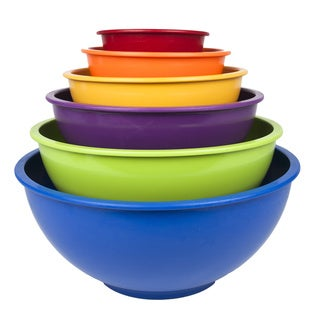 Primary Colors Nested Melamine Mixing Bowl 6-piece Set