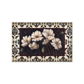 Counterart Black and White Poppies Paper Placemats (36 pack)