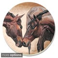 Counterart Absorbent Stone Coasters Horse Kiss (Set of 4)