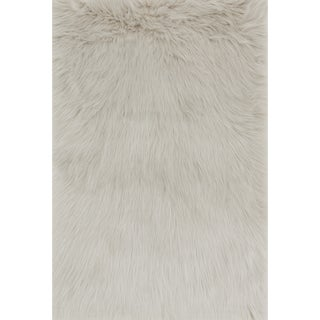 Jungle Sheep Skin Stone Rug (2'0 x 3'0)