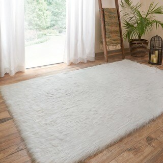 Jungle Sheep Skin Stone Rug (3'0 x 5'0)