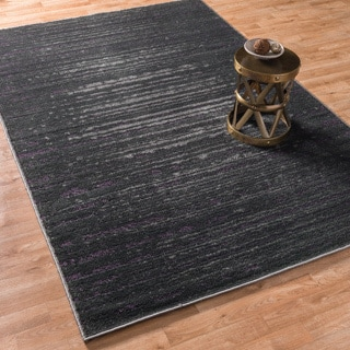Kingsley Pewter/ Purple Rug (5'2 x 7'7)