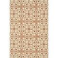 Hand-hooked Indoor/ Outdoor Capri Ivory/ Spice Rug (7'6 x 9'6)
