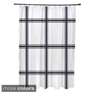 Simple Plaid Pattern Shower Curtain