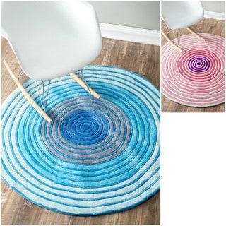 nuLOOM Radiante Handmade Circle Round Rug (4' Round)