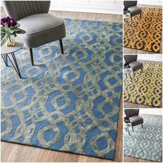 nuLOOM Handmade Elegance Trellis Wool/ Cotton Rug (5' x 8')