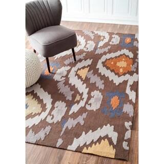 nuLOOM Handmade Modern Indoor/ Outdoor Cocoa Rug (5' x 8')