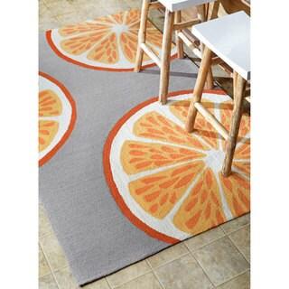 nuLOOM Handmade Indoor/ Outdoor Modern Orange Kitchen Rug (7'6 x 9'6)