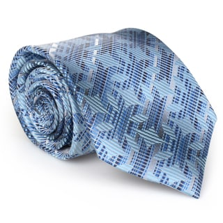 Vance Co. Men's Patterned Microfiber Handmade Tie and Hanky Set