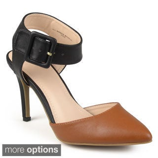 Journee Collection Women's 'Marigold' Patent Ankle Strap Pumps