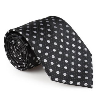 Vance Co. Men's Polka Dot Microfiber Handmade Tie and Hanky Set