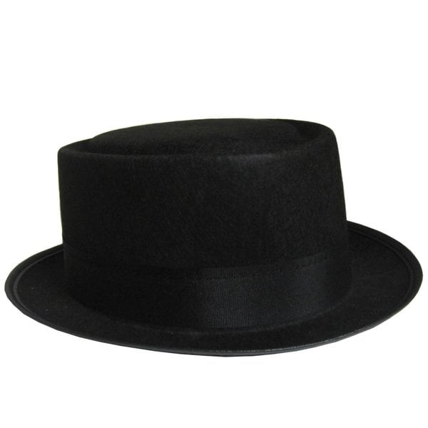Adult Black Pork Pie Hat