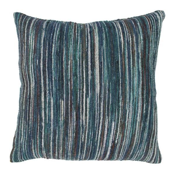 Blazing Needles 20-inch Blue Palette Striped Throw Pillow