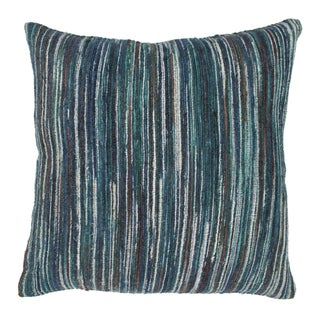 Blazing Needles 20-inch Blue Palette Striped Throw Pillow