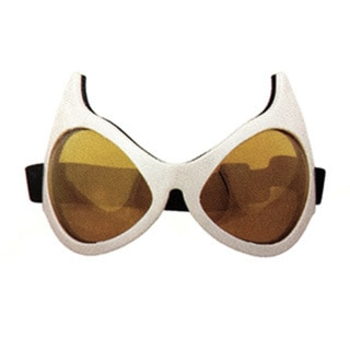 Cat Eye White Frames Goggles Costume Accessory
