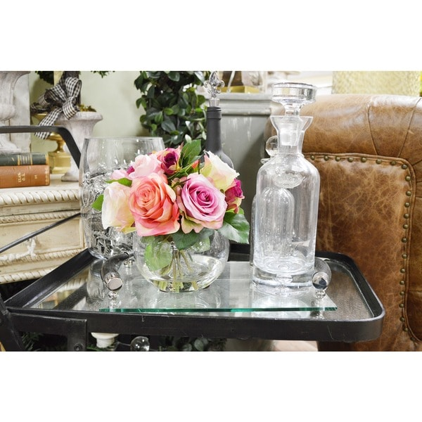 Assorted Rose Bouquet Acrylic Water Bubble Glass