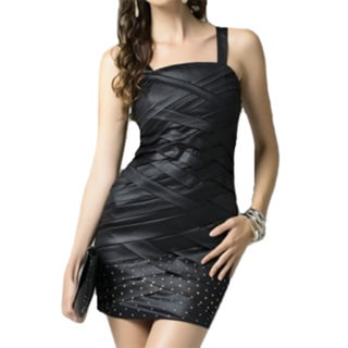 Sara Boo Sleveless Little Black Mini Dress