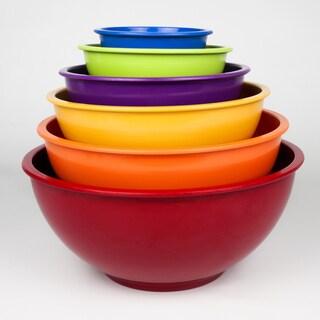 Rainbow Nested Melamine Mixing Bowl 6-piece Set