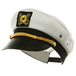 Adult Yacht Captain Hat Costume Accessory