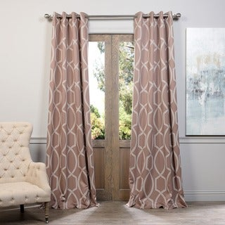 Lisbon Bronze Grommet Top Blackout Curtain Panel