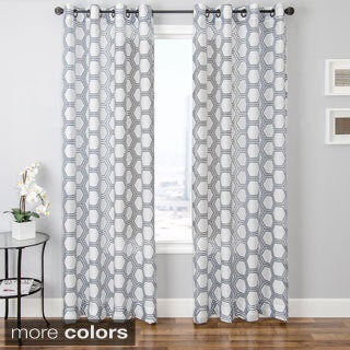 Andres Burnout Sheer Geometric Curtain Panel