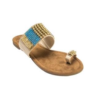 Muk Luks Women's Brandy Beaded Sandals