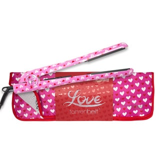 Fahrenheit Love 1.25-inch Ceramic Flat Iron with Pouch