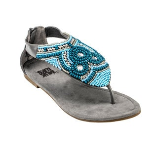 Muk Luks Women's Audrey Beaded Sandals