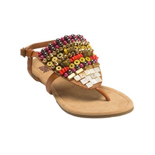 Muk Luks Women's Harlow Beaded Sandals