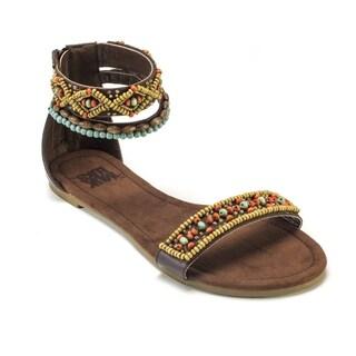 Muk Luks Women's Wren Beaded Sandals